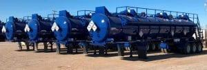 Photo of blue steel vessels