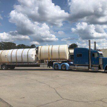 Full Truck Leaving MLU Plant