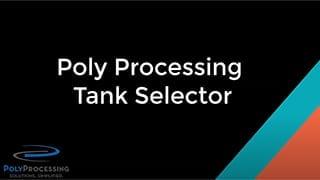 Tank Selector Tool