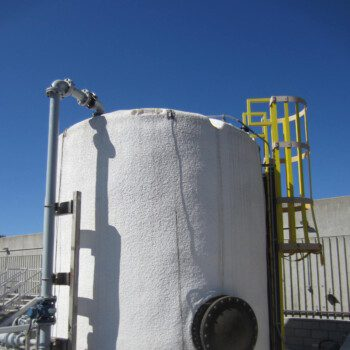 Fats, Oils, and Grease (FOG) Tank with FRP side manway, FRP ladder