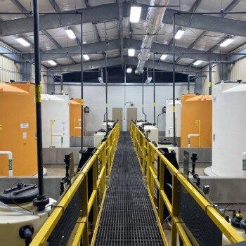 WTP Plant with Custom Colored Tanks